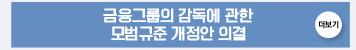 금융그룹의 감독에 관한 모범규준 개정안 의결 : 더보기