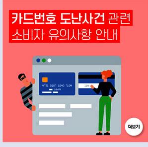 카드번호 도난사건 관련 소비자 유의사항 안내