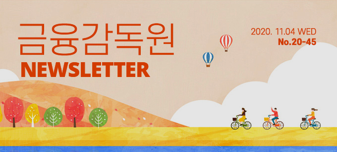2020.11.04 WED No.20-45 금융감독원 NEWSLETTER